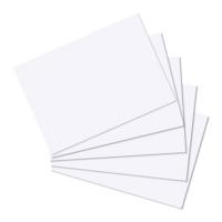 Herlitz A5 100'lü Düz Beyaz Kartotek