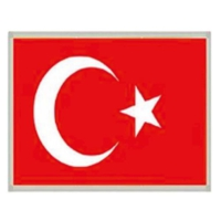 İnterpano Türk Bayrağı Alm.Çerçeveli 20 x 30 Cm