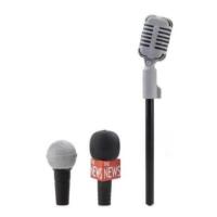 Kikkerland Microphone Eraser Toppers – Silgi Mikrofon Kalem Başlıkları