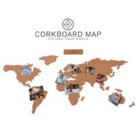 Luckies Corkboard Map - Mantar Dünya Haritası