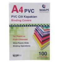 Mapi Pvc A4 160 Micron Cilt Kapağı 100'lü Renk - Şeffaf