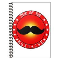 Morning Glory 1810 A4 Mustache Plastik Kapak Spiralli Kareli Defter Desen 4