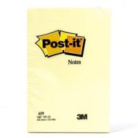 Post-It 659 Not Kağıdı 102 x 152 Mm Kanarya Sarısı 100 Yaprak