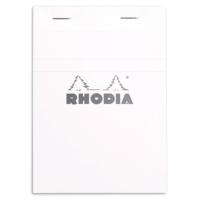 Rhodia Basics A5 Zımbalı Beyaz Kareli Defter Rt 16201