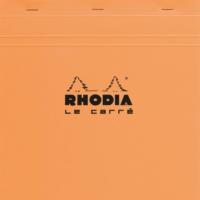 Rhodia Basics 210 x 210 Mm Zımbalı Turuncu Kareli Defter Rt 210200