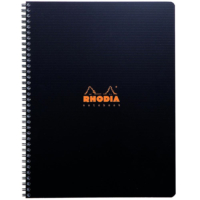 Rhodia Active Plastik Kapak A4 Spiralli Siyah Çizgili Defter Rc119901