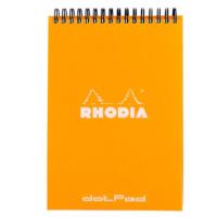 Rhodia Classic A5 Spiralli Turuncu Noktalı Defter Rt 16503