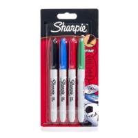 Sharpie Fine Permanent Markör Kalem Standart Renkler 3+1 Paket