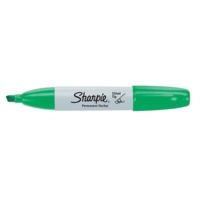 Sharpie Chisel Tip Kesik Uçlu Permanent Markör Yeşil Kalem