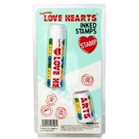 Suck Uk Sevgi Sözcükleri Damgası - Love Hearts Stamp - Kalpli 3 Damga