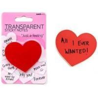 Suck Uk Transparent Sticky Notes - Yapışkanlı Şeffaf Not Kağıtları - Kalp Ve Baloncuk
