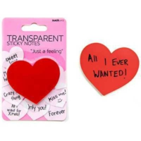 Suck Uk Transparent Sticky Notes - Yapışkanlı Şeffaf Not Kağıtları - Kalp Ve Baloncuk Kalp