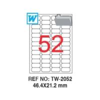 Tanex 46,4 x 21,2 Mm Laser Etiket Tw-2052