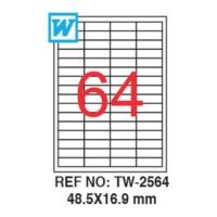Tanex 48,5 x 16,9 Mm Laser Etiket Tw-2564