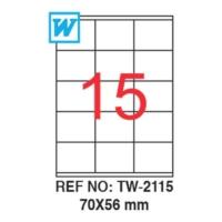 Tanex 70 x 56 Mm Laser Etiket Tw-2115