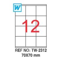 Tanex 70 x 70 Mm Laser Etiket Tw-2312