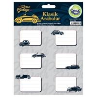 Crea Tiket 1006 Klasik Arabalar Serisi Okul Etiketi