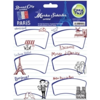 Crea Tiket 1010 Marka Ve Şehirler Serisi Okul Etiketi