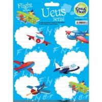 Crea Tiket 1043 Uçuş Serisi Okul Etiketi