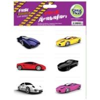 Crea Tiket 1023 Yarış Arabaları Serisi Okul Etiketi