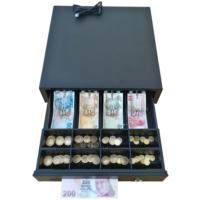 İngenico iDE280-iWE280 ile Tam Uyumlu Yazarkasa Pos Para Çekmecesi 4 Banknot 8 Bozuk Para Bölmeli Yazar Kasa Çekmecesi