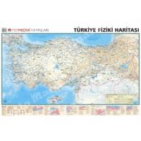 Mep Harita Türkiye Haritası 70x100 Önlü Arkalı Fiziki + Siyasi Türkiye haritası