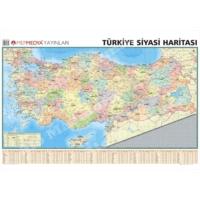 Mep Harita Türkiye Siyasi Haritası 70x100 Çitalı Yazılıp Silinebilir