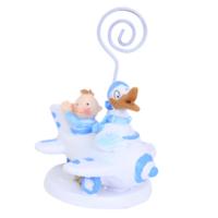 LoveQ Kartlık Bebek Ve Leylek 7X9 Cm Mavi