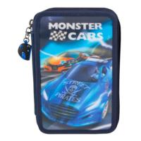 Monster Cars 3 Katlı Dolu Kalemkutu 8971-1 Lacivert