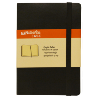Mynote Case 19*25 Defter 96 Yp Çizgisiz Siyah