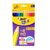 Bic Kids Süper Soft Jumbo Kuru Boya Kalemi 12 Renk
