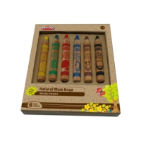 Play-Doh PLAY-CR009 Natural Mum Boya 6 Renk