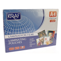 Kraf Laminasyon A4 125 mic.