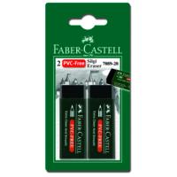 Faber Castell Bls. Plastik Silgi (7089/20), Siyah, 2'li