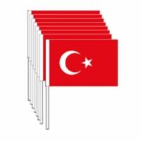 Kikajoy Elli Adet 23 Nisan Sopalı Türk Bayrağı 22 Cm X 32 Cm