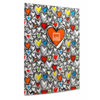Makenotes Colorful Hearts A4 Not Defteri Mn-Mot40-A4Q