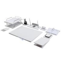 Zenia 12 Parça Lüks Beyaz Renk Deri Sümen Takımı + Takvim Hediye