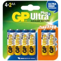 GP Ultra Plus Alkalin 6'lı (4+2) AA Boy Kalem Pil (GP15AUP4/2P6)