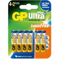GP Ultra Plus Alkalin 6'lı (4+2) AAA Boy İnce Pil (GP24AUP4/2P6)