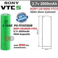 Clifton Sony Vtc5 3.7V 2600Mah ( 30A Discharger ) Li-İon Şarjlı Pil