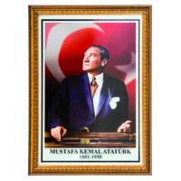İnter 50x70 cm Varaklı Atatürk Portresi İNT-026