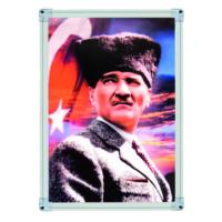 İnter 35x50 Atatürk Portresi Alüminyum Çerçeveli INT-824-3