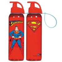 Superman Lisanslı 500 ml Askılı Çocuk Matarası (Kırılmaz)