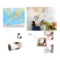 Neon Akıllı Beyaz Kağıt Yazı Tahtası 2 Adet 60x100 Statik Kağıt Tahta + Tahta Kalemi + Yazı Tahtası Silgisi + Mep 70x100 Türkiye Haritası
