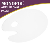 Monopol Akrilik Oval Resim Paleti - 25X35Cm