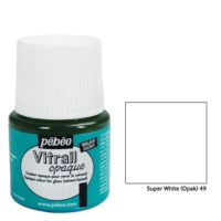 Pebeo Vitrail Cam Boyası 45Ml - 49 Super White (Opak)