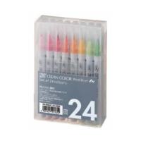 Zig Clean Color Real Brush Fırça Uçlu Kalem 24'Lü