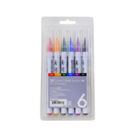 Zig Clean Color Real Brush Fırça Uçlu Kalem 6'Lı
