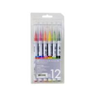 Zig Clean Color Real Brush Fırça Uçlu Kalem 12'Li