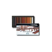 Lyra Polycrayons Soft - Kahverengi Tonlar 12 Renk -